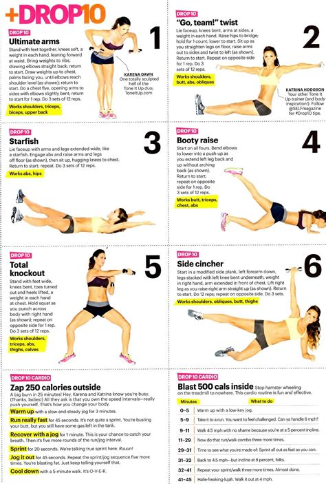exercises for shoulders triceps biceps back hips abs calves thighs and obliques