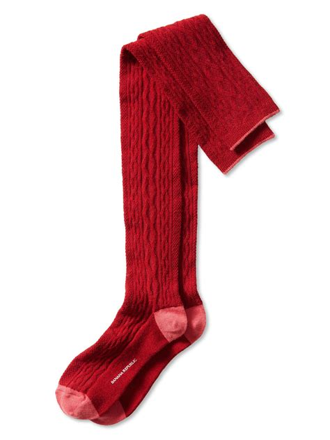 cable knit the knee socks banana republic cable knit the knee sock in new