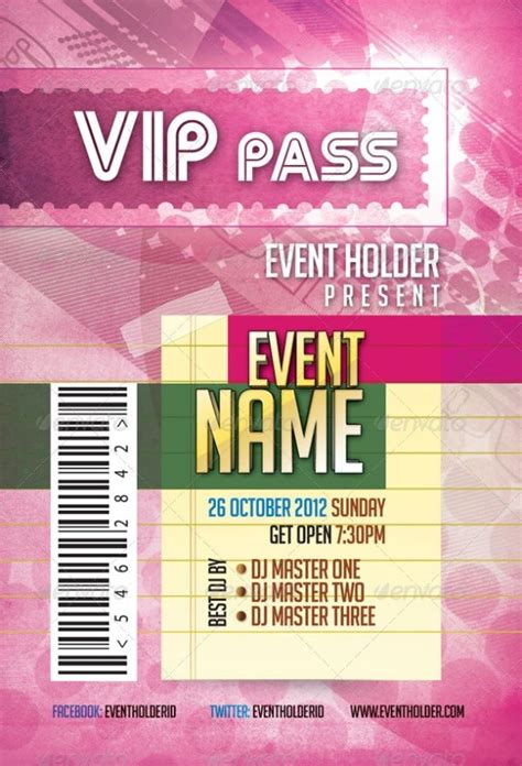 46 Print Ready Ticket Templates Psd For Various Types Of Events Psdtemplatesblog Vip Pass Template