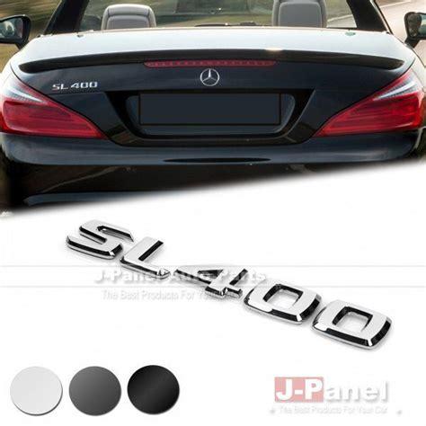 cover letter sl sl400 rear boot trunk letter emblem badge for mercedes
