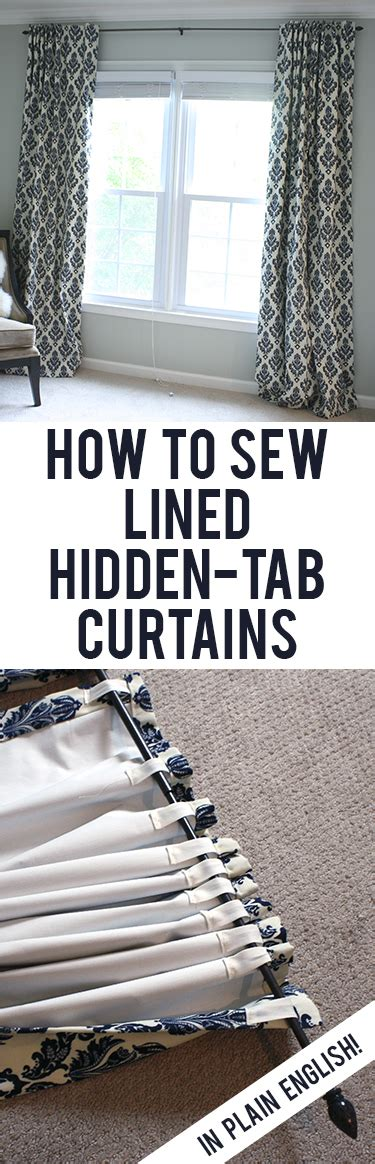 how to sew blackout curtains tutorial how to sew diy black out lined back tab curtains