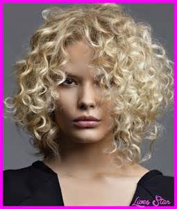 curly hairstyle for a round face images