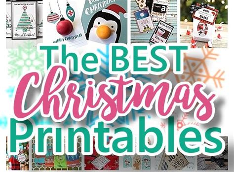 The Best Gift Cards - the best free christmas printables gift tags holiday greeting cards gift card
