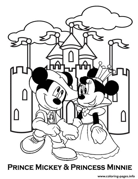 princess minnie coloring pages prince mickey and princess minnie disney coloring pages