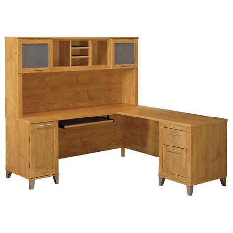 l shaped desk with hutch amazon com somerset 71w l shaped desk with hutch kitchen
