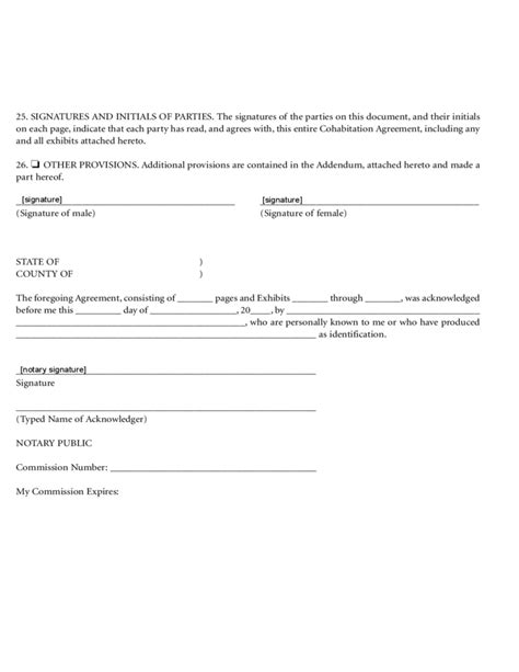 cohabitation agreement template free cohabitation agreement free