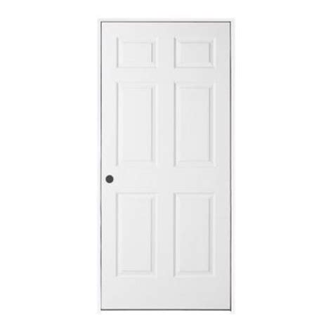 home depot prehung interior door jeld wen woodgrain 6 panel primed molded split jamb prehung interior door 781891 the home depot