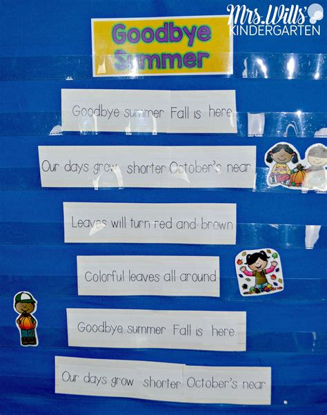 kindergarten themes for august poems for kindergarten and first grade