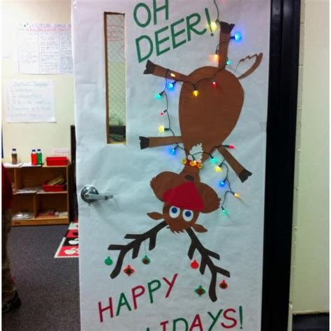 christmas decoration for 2nd grade oh deer bulletin board