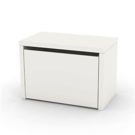 chevet coffre de rangement blanc flexa play pour chambre
