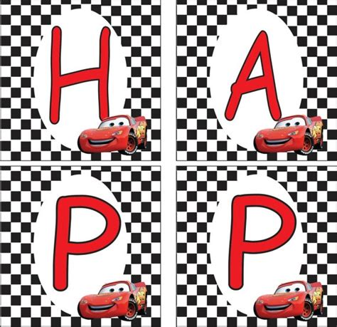 cars birthday banner template lightning mcqueen banner birthday ideas