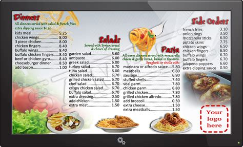 digital menu templates free digital signage powerup pos merchant services