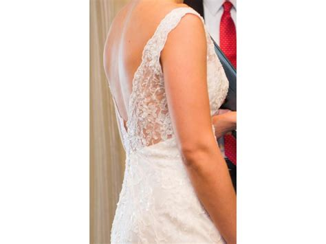 Dress D 1688 essense of australia d1688 675 size 12 used wedding