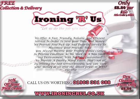 ironing service flyer template ironing r us ironing service in worthing uk