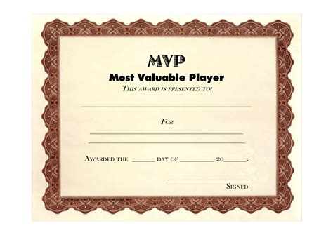 5 best images of free printable football award templates