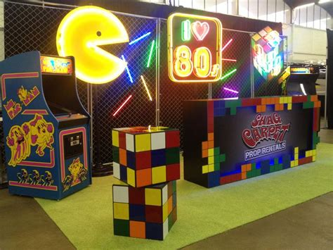 80s arcade party supplies decorations partycheap 80s decor ideas pac man neon rubik s cube vintage