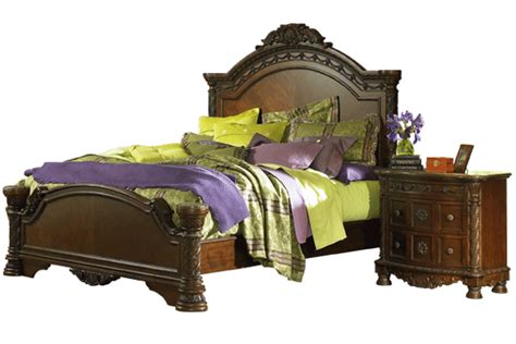 north shore king bedroom set north shore collection b553 ashley king bed frame