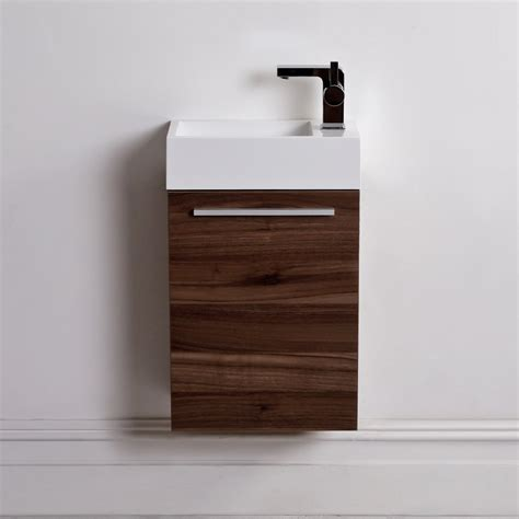 lusso quartet mini wall mounted cloakroom vanity