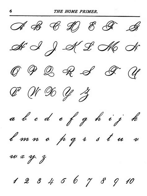 beautiful handwriting alphabet hand writing