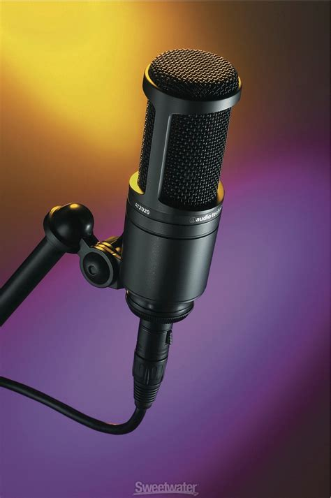 condenser microphone for screaming sold audio technica at2020 xlr