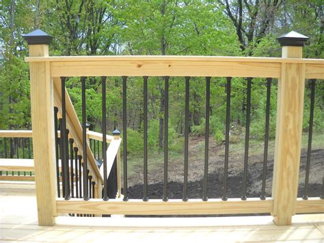 Porch Railing Spindles Pressure Treated Wood Deck Railing See Plenty Deck Railing
