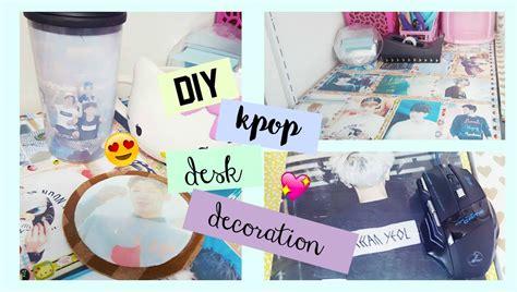 diy decorations for your desk diy kpop desk decor make your desk