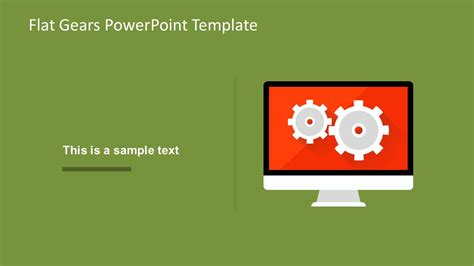 Modern Flat Gears Powerpoint Template Slidemodel Powerpoint Template For