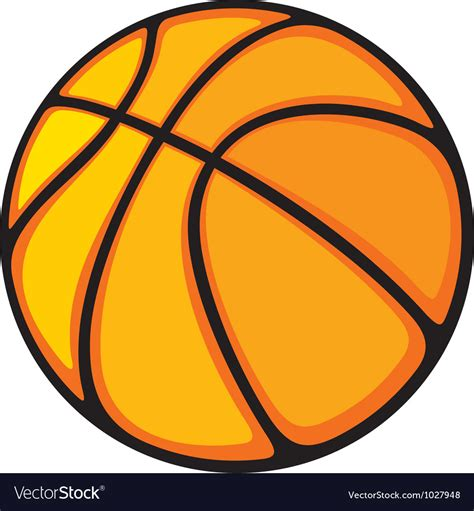 Basketball Clipart Vector Basketball Royalty Free Vector Image Vectorstock