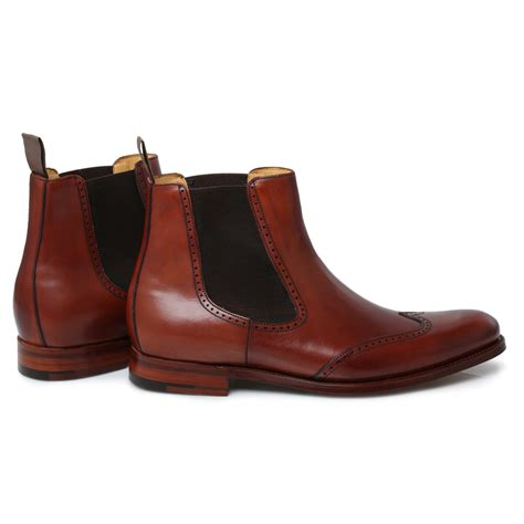 mens chelsea boots barker rosewood leather luxembourg mens chelsea boots size
