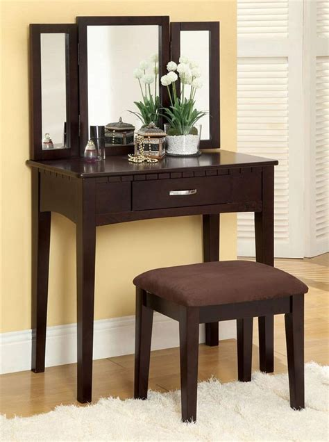 Espresso Makeup Vanity Set by Espresso Makeup Vanity Table Make Up Vanity Tables