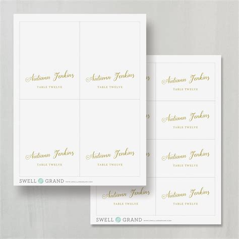 Large Place Cards Template by Table Cards Template Image Collections Professional
