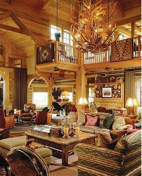 rustic log home living room cozy cabins