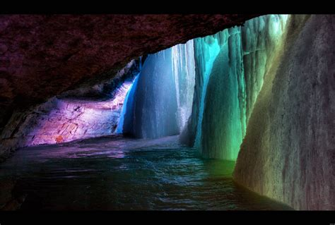 frozen waterfalls rainbow frozen waterfall wallpapers and images wallpapers pictures photos