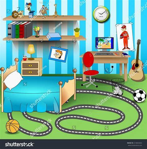 kid bedroom vector art image stock vector