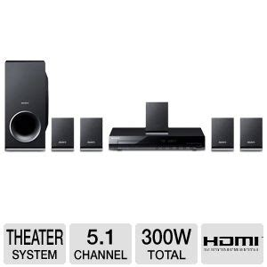 sony dav tz140 dvd home theater system 5 1 channel 300