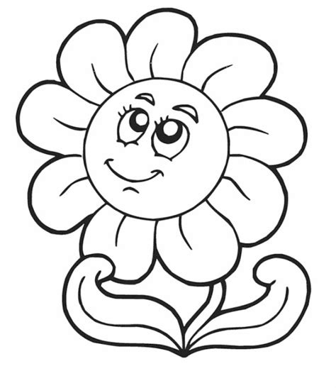 printable daisies flowers colorings daisy flower coloring