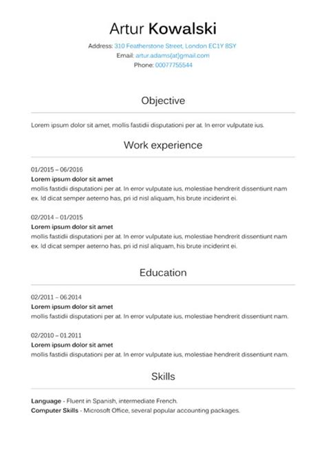 format zdjecia cv cv uk wzr tolgjcmanagement