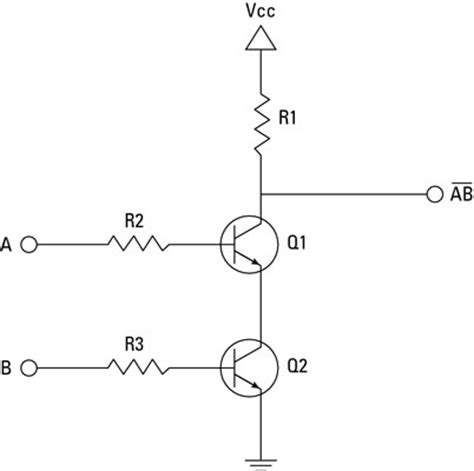 transistor nand gate electronics projects how to create a transistor nand gate circuit dummies