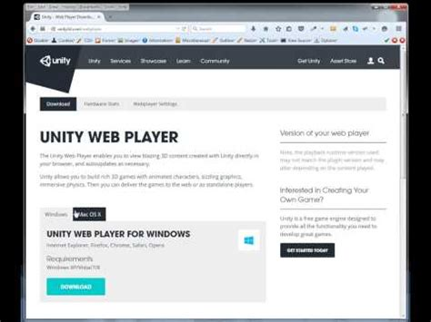 tutorial unity web player full download how to fix unity web player not working