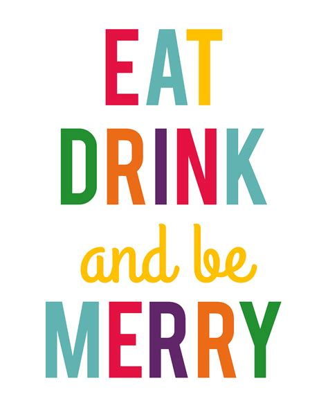 Sit Eat And Be Merry Because I Said So by Eat Drink And Be Merry Printables