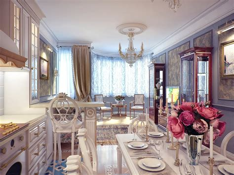 Kitchen And Dining Room Decorating Ideas by Classical Kitchen Dining Room Decor Interior Design Ideas