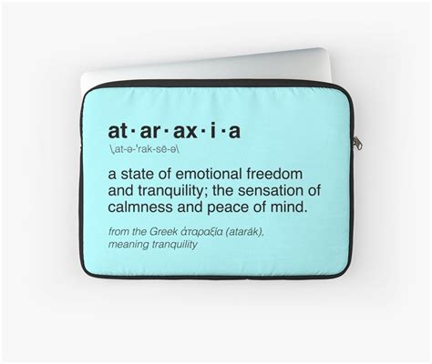 Ataraxia Tote Bag 2 quot ataraxia definition quot laptop sleeves by valyrianheart