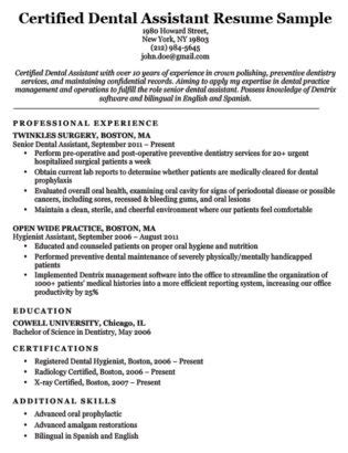 Dental Assistant Cover Letter Sle Resume Companion Dental Assistant Resume Template