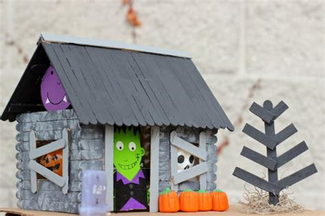 How To Make A Haunted House Out Of Paper - haunted house craft for allfreekidscrafts