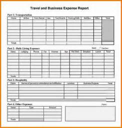 business trip expenses template 7 travel expense report template expense report