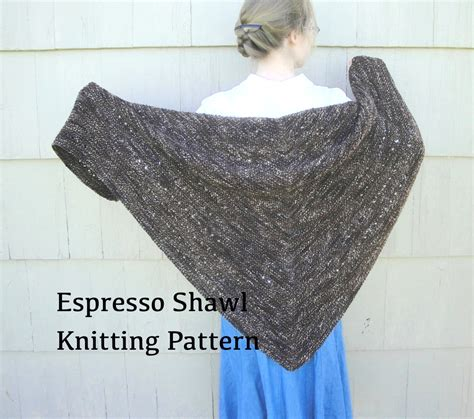 easy knit lace shawl pattern espresso shawl pdf knitting pattern easy knit worsted