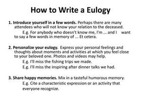 how to write a eulogy template eulogy exles for a friend pictures to pin on