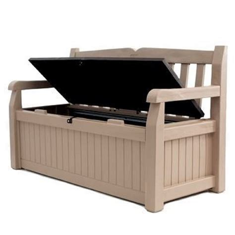 homebase garden bench homebase garden bench keter eden bench box cream 265l at
