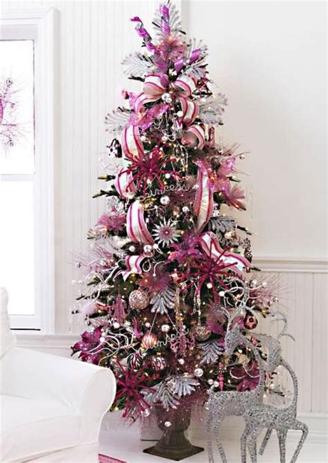 pink christmas tree christmas pinterest