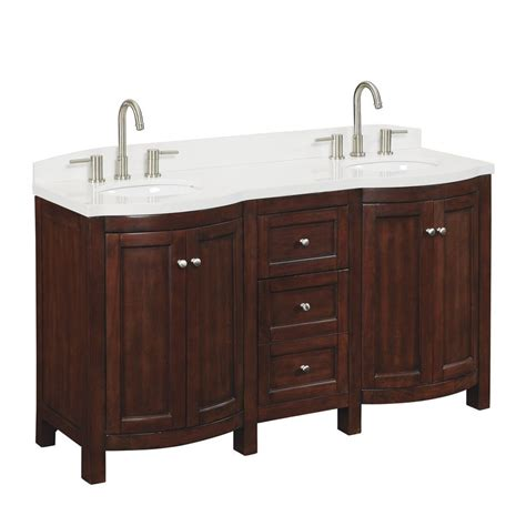 allen roth moravia      undermount bathroom vanity  engineered stone top lowes